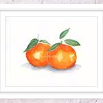 Tangerine Print, A4 Size Watercolour Tangerine, Kitchen Print