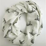 Wild Cat Infinity Scarf - Work Scarf - Leopard Print Loop Scarf