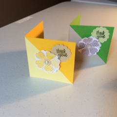 Thank you cards. Small Thankyou cards set of 2