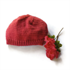 Kid's beanie beanies hand knitted hat winter beanies grey raspberry truffle