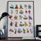 Alphabet poster, Kids room art, ABC poster, Educational poster, Nursery room art
