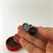 Typewriter-key cufflinks in a vintage Peerless tin - 'SHIFT' + 'BACK SPACE' keys