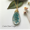 Queen Anne Lace Flowers Resin Pendant