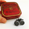 Typewriter-key cufflinks in a vintage tin - black 'asterisk' keys