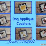 Coaster with Dog Appliqué