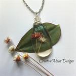 Mini Chrysanthemums Resin Pendant