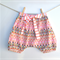 Girls toddler bloomers nappy cover pants shorts, harem pants, neon orange pink