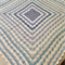 Handmade Crochet Blue and White Blanket/Lap Rug/Throw