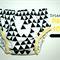 Baby Bloomers Pants nappy cover Black white geometric Size 3-6m