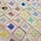 Crochet Pastel Patchwork Blanket/Lap Rug/ Child's/Cot Blanket
