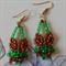 Fox beaded earrings