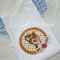 Girls Singlet Top Tshirt Ruffle Bambi Deer applique Baby girls clothing size 1-2