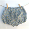 Baby girls bloomers nappy cover, blue flowers, toddler bloomers Size 1
