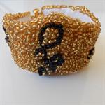 Unique embroidery seed beaded designer bracelet