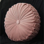 Blush Pink Velvet Vintage Style round cushion-FREE POST
