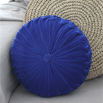 Cobalt Blue Velvet Vintage Style round cushion-FREE POST