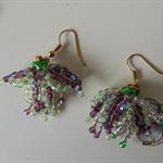 Fuchsia Inspired beaded earrings