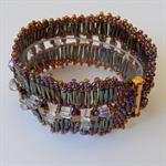 Bugle beads & seed beaded designer bracelet