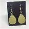 Not Quite White Round Earrings - FREE POSTAGE