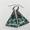Turquoise & Tan Leaves Earrings - FREE POSTAGE
