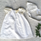 Cream baby girl dress Christening baptism gown dress with lace one only 0-3month