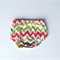 Baby bloomers nappy cover pants chevron pattern size 3-6mths metallic gold xmas