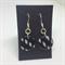 Black & White Round Earrings - FREE POSTAGE