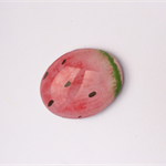 Watermelon glass fridge magnet watercolour painting