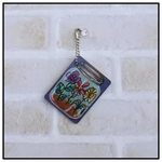 ART TAGS GIFT TAGS HAND PAINTED JAR FLOWERS