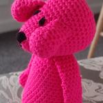 Dani Bear : crochet, safe, OOAK, washable, baby shower, girl