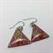 Pink Flower Triangle Earrings - FREE POSTAGE