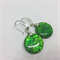 Round Sparkly Green Earrings - FREE POSTAGE
