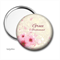 Pocket mirror - pink Blossom  - add your text
