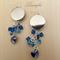 SALE 40% OFF - Blue Sapphire, Black Earring - Batik jewellery - Swarovski - E018