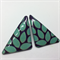 Aqua Leaves Stud Earrings - FREE POSTAGE