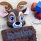 Minky Deer 'Ruggybud' - personalised, comforter, keepsake, lovey.