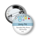 10  Personalised Shower badge favours - Clothesline