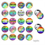 Gay and lesbian button badges - pack of 10