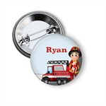 Name badge - Fireman personalised badge