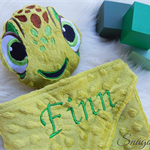 Minky Turtle 'Ruggybud' - personalised, comforter, keepsake, lovey.