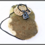 THE BIRD HOUSE, FINE SILVER, STERLING SILVER & COPPER LONG NECKLACE