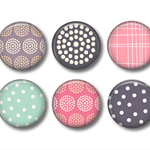 Magnets Chevrons and Dots - set of 6 fridge magnets