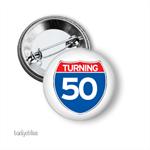 Birthday badge Turning 50