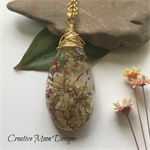 Real Flowers Resin Pendant