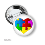Autism button badge