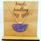 Necklace - Half Moon Glitzy Lilac
