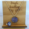 Necklace and Ring Set - Glitzy Lilac