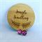 Glitter Earrings - Rosebud