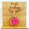 Necklace - Furo Pink Teardrop