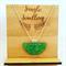 Necklace - Half Moon Green Dreams